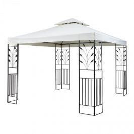 Blumfeldt Odeon Grey, világos bézs, kerti pavilon, lugas, acél, poliészter, 3 x 3 m