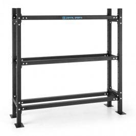 CAPITAL SPORTS Traytor B Storage Rack, súlytartó polc, 3 emelet, acél, fekete