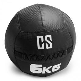 CAPITAL SPORTS Bravor Wall Ball medicinlabda, PVC, dupla varrások, 6kg, fekete