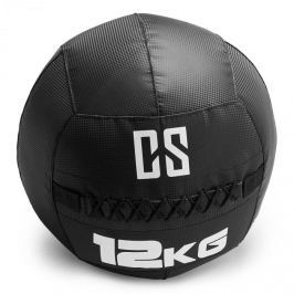 CAPITAL SPORTS Bravor Wall Ball medicinlabda, PVC, dupla varrások, 12kg, fekete