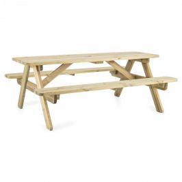 Blumfeldt Picknicker 180, piknik asztal, kerti bútor, 32 mm, boróka, 45 kg