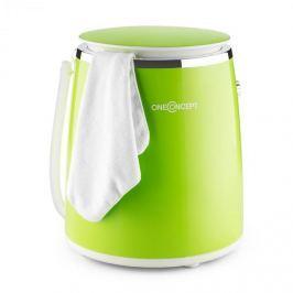 OneConcept Ecowash-Pico, zöld, mini mosógép, centrifuga funkció, 3,5 kg, 380 W