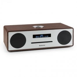 Auna Stanford DAB-CD-rádió, DAB+, bluetooth, USB, MP3, AUX, FM, diófa szín