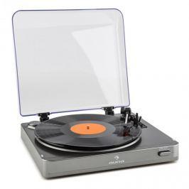 Auna TT-10 BT gramofon, bluetooth adó, line-out, ezüst