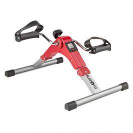 Klarfit Spinmin Pro Mini Bike, pedálos gép, edzőgép, kijelző, összecsukható, piros