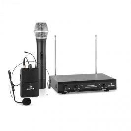 Auna VHF-2-HS 2- csatornás VHF mikrofon készlet, 1 x headset, 1 x kézi mikrofon, 50m