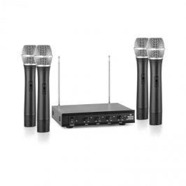 Auna VHF-4-H 4-csatornás VHF mikrofon készlet, 4x kézi mikrofon, 50m