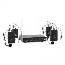 Auna VHF-4-HS 4-csatornás VHF mikrofon készlet, 4x headset, 50m
