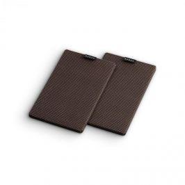 NUMAN Retrospective 1979 S polchangfal textil burkolat, 2 darab, fekete-barna