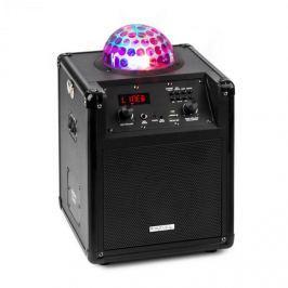 Ibiza Kube 60 hordozható bluetooth hangfal, USB, SD, AUX, FM, akkumulátor, fekete