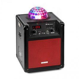 Ibiza Kube 60 hordozható bluetooth hangfal, USB, SD, AUX, FM, akkumulátor, piros
