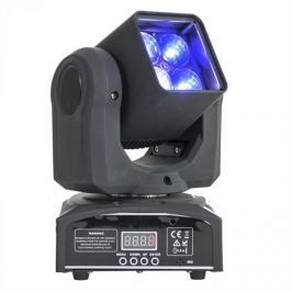 Ibiza LMH410Z Moving Head forgófejes fényeffekt, 4 x 4 az 1-ben, 10 W RGBW LED, Zoom, DMX