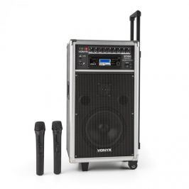 Vonyx ST-100 MK2 hordozható PA audió rendszer, bluetooth, CD, USB, SD, MP3, akkumulátor, UHF