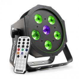 Beamz BFP110 FlatPAR 3 az 1-ben LED reflektor, 5 x 6 W RGB LED, DMX, IR-távirányító