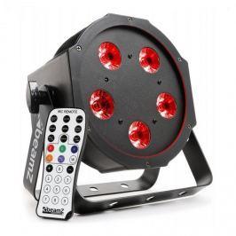 Beamz BFP120 FlatPAR 4 az 1-ben LED reflektor, 5 x 8 W RGBW LED, DMX, IR-távirányító