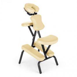 Klarfit MS 300 masszázs szék, tetováló szék, 120 kg, szállítótáska, bézs