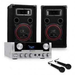 """Electronic-Star DJ szett: """"EASY"""" - erősítő, hangfalak. mikrofon, 1000W"""