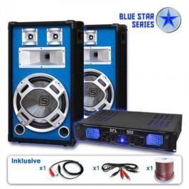 "Electronic-Star Blue Star Series ""Basskick"" hangfalszett, 1600 W, erősítő"