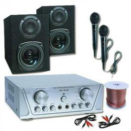 Electronic-Star Hi-fi szett HVA 200 + MC 130 + 2 mikrofon – karaoke
