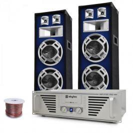 """Electronic-Star DJ PA szett """"Bass Titan"""", erősítő, hangfalak, 1600 W"""