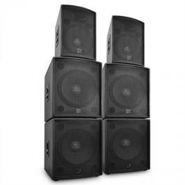 Malone DJ PA 6 részes Auna Phidias hangfal szett, 12 000 W