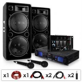 """Electronic-Star DJ SET """"DJ-20.1"""" PA erősítő, PA hangfal, keverőpult, 2000W"""