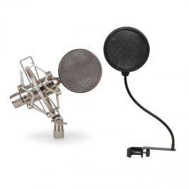 Auna CRM15 szalagmikrofon, ezüst, stúdió, XLR, vintage