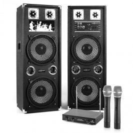 Electronic-Star STAR-210A aktív hangfalpár vezeték nélküli mikrofonokkal