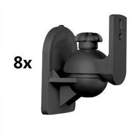 LUA SB-28, fekete, hangfaltartó, 8-as készlet, <3,5 kg, házimozi, HiFi