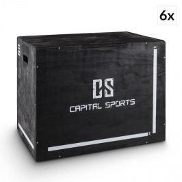 """CAPITAL SPORTS Shineater BK, fekete, pliobox készlet, dobozok ugrálásra, 3 magasság 20"""", 24"""", 30"""", fa"""