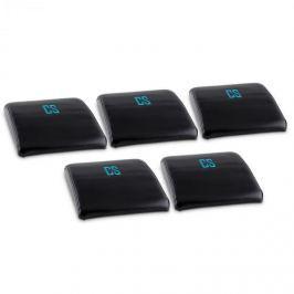 CAPITAL SPORTS Backsill, fekete, hátlap párna a has edzésére, 5 darabos készlet