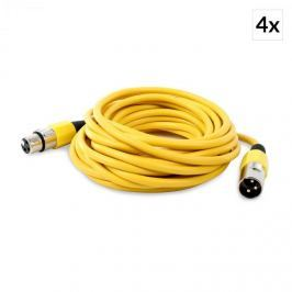 4 x FrontStage XLR-kábel, sárga, 6m