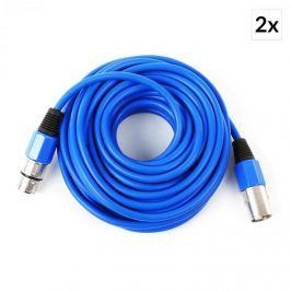 FrontStage XLR kábel, 2-es szett, 10 m, apa anyához, kék