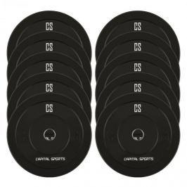 CAPITAL SPORTS Resilior dropable plate, 5 pár súlytárcsa készlet, 5 kg-s súlytárcsák, keménygumi