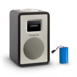 NUMAN Mini One Design digitális rádió, bluetooth, DAB+, FM, AUX, fekete, tölthető akkumulátorral