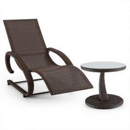 Blumfeldt Daybreak, barna, hintaszék + asztal, kerti bútor készlet, fonott kosár hatás