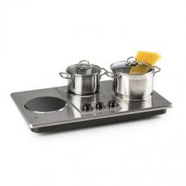 Klarstein Potzblitz hármas főzőlap, 3300 W, rozsdamentes acél