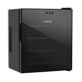 Klarstein Vinarium borhűtő, 14 l, 4 palack, érintésvezérlés, 38 dB, üvegajtó, fekete