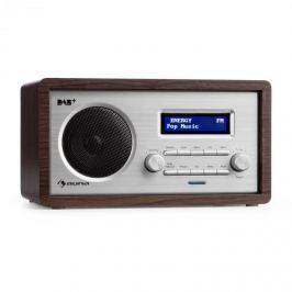 Auna Harmonica DAB+/FM rádió, dual alarm, AUX, LCD, fa konstrukció, wenge