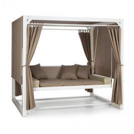 Blumfeldt Eremitage luxus hintaszék, 236x180x210cm, fehér/barnásszürke