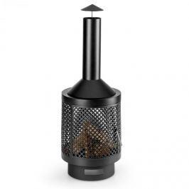Blumfeldt Essos, kerti kandalló, kerti kályha, fára, Ø45cm, rácsos fal, acéllemez, fekete