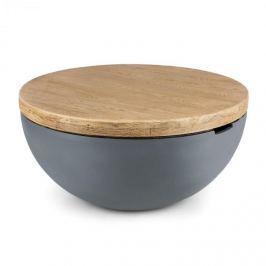 Blumfeldt Blockhouse Lounge beton asztal, kerti asztal, kerek, 80x40cm (ØxM)