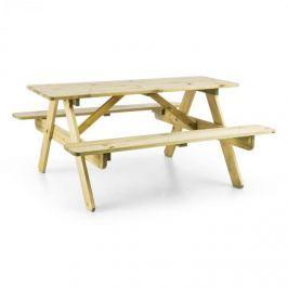 Blumfeldt Picknickerchen gyerek piknik asztal, játékasztal, igazi borókafa