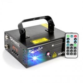 Beamz Anthe II dupla lézer, 9 W RGB, 7 DMX csatorna, 12 motívum, master/slave
