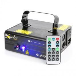 Beamz Elara dupla lézer, 18 W RB, 6 DMX csatorna, 12 motívum, IR távirányító