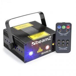 Beamz Bianca dupla lézer, 7 DMX csatorna, 330W RGB, 12 motívum, master/slave