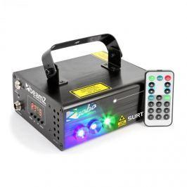Beamz Surtur II dupla lézer, 9 W RG, 7 DMX csatorna, 8 motívum, távirányító