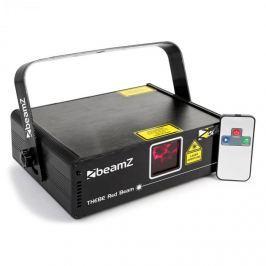 Beamz Thebe show lézer, piros 150 mW lézer, 9 DMX csatorna, master/slave, automata rezsim, IR távirányító