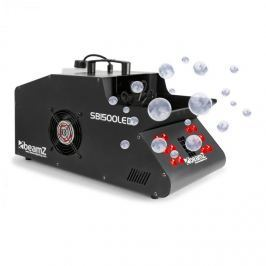 Beamz SB1500LED füstgép + buborékfújó, RGB LED, 1500 W, 1,35 l tartály, DMX