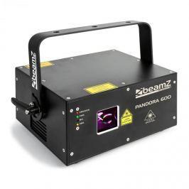 Beamz Pandora 600, lézerhatás, TTL RGB, MIC, ILDA, hangra érzékeny, master/slave, 400 mW